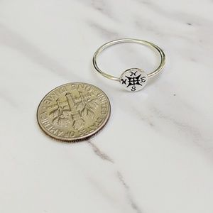 Jewelry - •Compass• Sterling Silver Dainty Ring